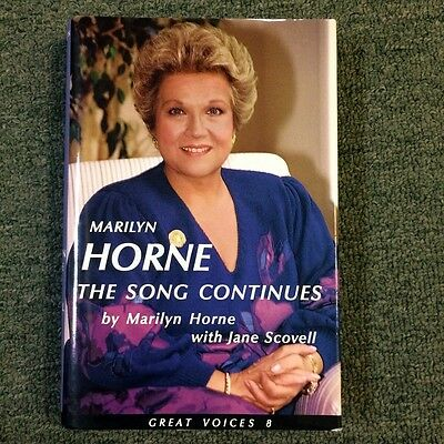 Hand Signed Hardback Book W/coa *marilyn Horne* The Song Continues W/ Jacket