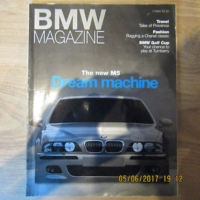 BMW Great Britain GB Official Magazine JANUARY 1999 M5 E39 5.0 V8 Saloon