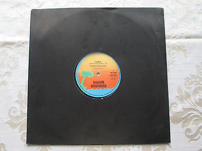 """THE GIBSON BROTHERS - CUBA - ORIGINAL 1978 ISLAND RECORDS 12"""" 45rpm VINLY SINGLE"""