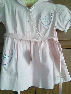 1940s Vintage new baby girl dress new by Bambonnie