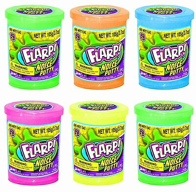 Ja-Ru Flarp Fart Noise Putty, 6 Pack (Assorted Random Colors)