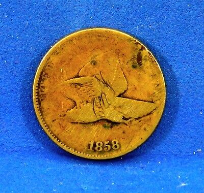US Coin 1858 P Flying Eagle Cent Copper Last Year