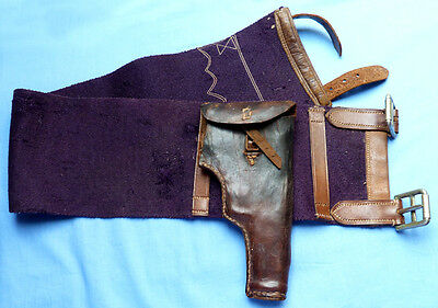 Rare British Indian(?) Army Officer's Belt And Holster - With War Dept Stamp