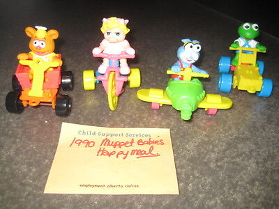 Vintage 1990 McDonalds Happy Meal Toy- Muppet Babies Lot of 4