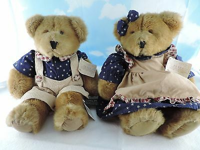 Russ Berrie Franklin & Amelia Americana/Patriotic Bears from the Past