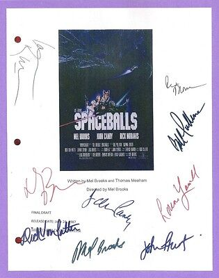 Spaceballs Signed Script Rpt Mel Brooks  Rick Moranis  John Candy  Bill Pullman
