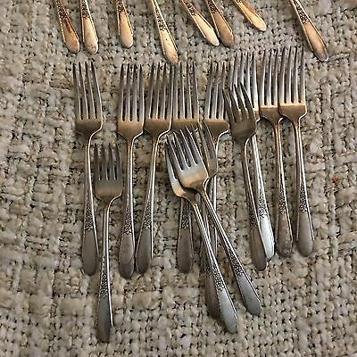 Lot of 131 pieces of silver plated flatware WM Rogers