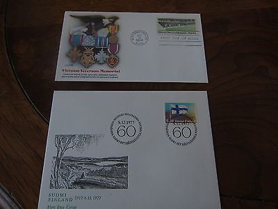 World First day covers- set of 6 - Lot #1