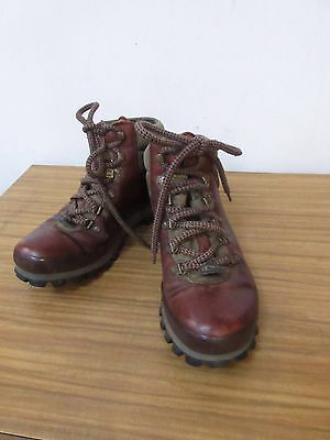 Chris Brasher Brown Leather Gore-Tex Walking Boots Size 6.