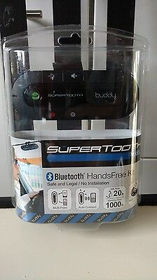 SUPERTOOTH BUDDY Kit Mains Libres Bluetooth NEUF