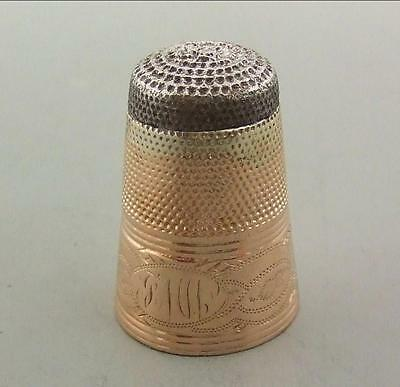 Georgian 15K Gold & Steel Thimble
