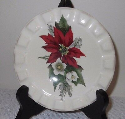 A Brannam Ware Decorative Small Plate (Stand Not Included)