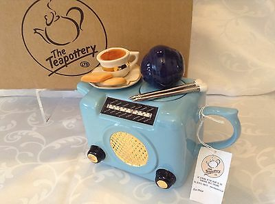 Teapottery Swineside Novelty Collectable Teapot Retro Radio Boxed New Condtio
