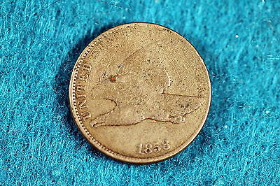 ESTATE FIND 1858 Flying Eagle Cent!! #F5873