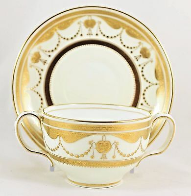 12 Sets Bowls & Saucers Antique Minton China G9455 Raised Gold Encrusted Jeweled