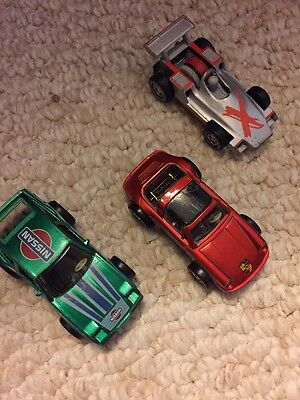 3 Darda Die cast Motorized Stop N Go Motor Cars- Includes Porsche And Nissan