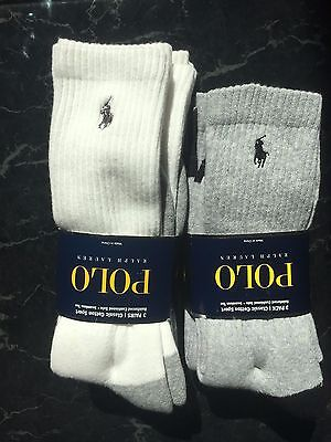 Polo Ralph Lauren Men's 2 BOX Classic Cotton Sport Black & Gray Socks, Pack of 3