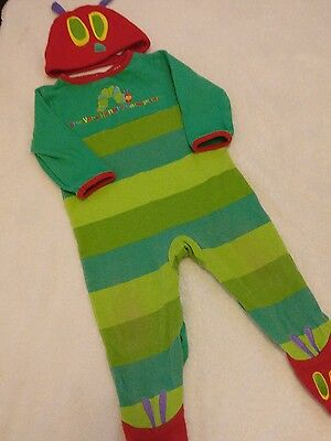 The Hungry Caterpillar Sleepsuit And Hat. Romper Outfit Girls Boys 6 -9 Months