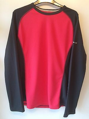 BERGHAUS Ladies/Womens Long Sleeve Tech T - Size 16 - Red Grey