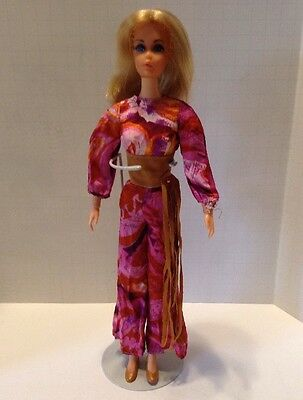Vintage 1970  Live Action Barbie #1155 With Original Outfit & Shoes! Ex!