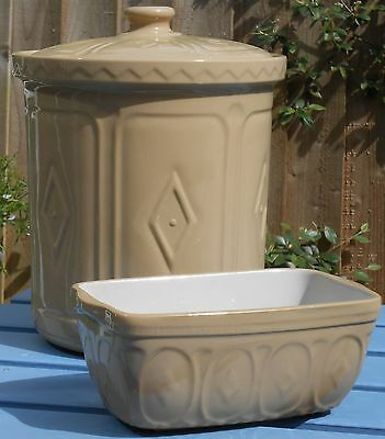 Mason Cash Traditional Yellowware Bread Bin & Loaf Tin - Uk Made