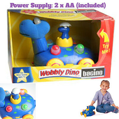 Wobbly Dino INTERACTIVE PULL ALONG TOY