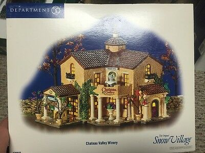 Chateau Valley Winery SNOW VILLAGE-DEPT. 56 BOX VG