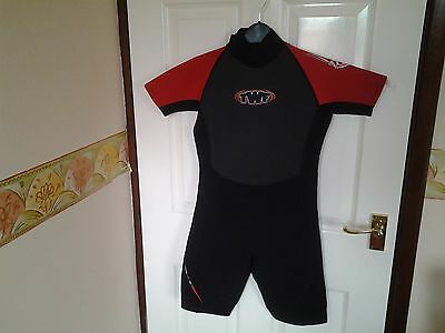 Children TWF Black / Red Shorties Wet suit Age 14yrs