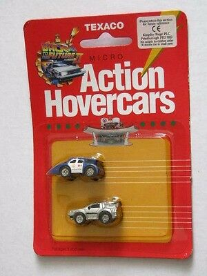 BACK to the FUTURE II. TEXACO 1989 MICRO ACTION HOVERCARS. MINT on CARD. MOVIE