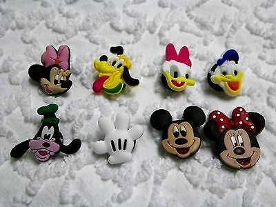 C 369 US Seller Disney Mickey Donald Pluto Shoe Charm Fits Crocs , Jibbitz,