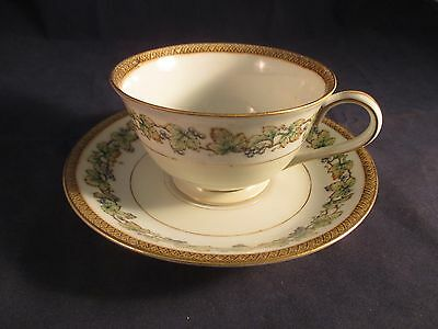 Vintage Tea Cup & Saucer Set Fuji China Orchard Pattern Made In Occupied Japan