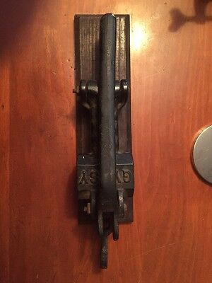 Antique 19th C Gypsy Cast Iron Cork Press