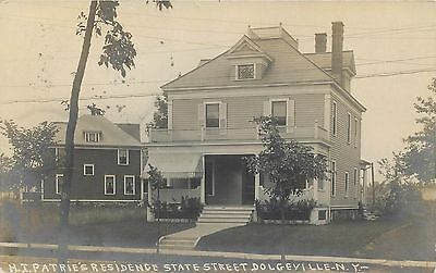 RPPC H. Patrie's Residence Dolgeville NY New York Real Photo Postcard 1900s