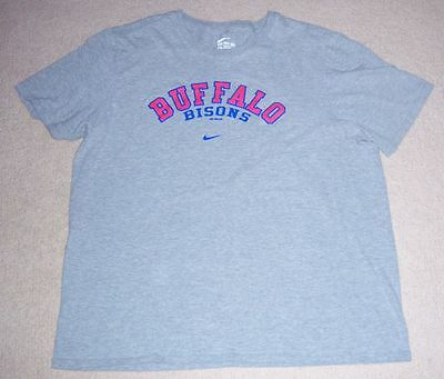 Rare NIKE Authentic BUFFALO BISONS Workout SHIRT XL Toronto Blue Jays jersey l