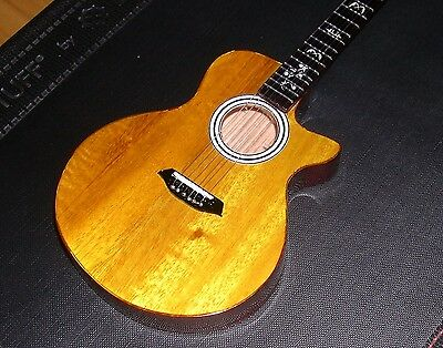 NEW Brown Dave Matthews the Taylor 914ce Miniature Guitar with stand