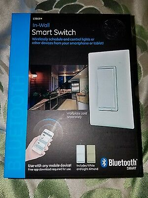 GE 13869 Bluetooth Smart Switch (In-Wall) White & Light Almond NEW