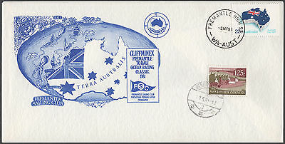 Western  Australia 1981 Cover Carried On The Yacht Battle Fremantle To Bali