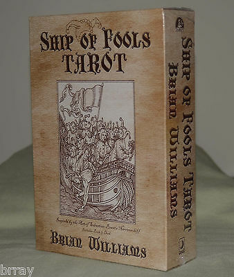 OOP **NEW & SEALED** Ship of Fools Tarot Card Deck & Book Set BY Brian Williams