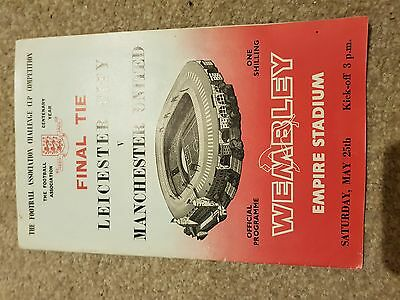 Manchester United V Leicester City FA Cup Final 1962- 63 Programme