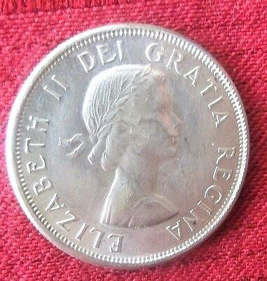 1963 Canada 50 Cents Silver Coin Very Pretty
