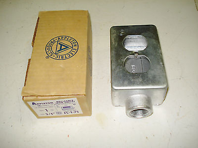 Vintage New Old Stock Appleton Malleable Iron Unilet FS-1-75 New in Box 3/4""