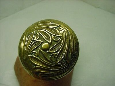 1 Antique Ornate Victorian Solid Brass / Bronze  Door Knob 2+1/2''-Art Nouveau