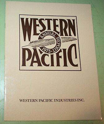 Western Pacific Railroad Wprr 1975 Annual Report