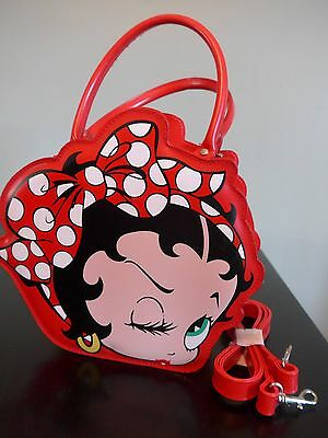 2005 Betty Boop red purse with shoulder strap – Betty's face