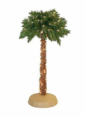 Brand New Pre Lit LIGHT UP PALM TREE 5 Foot Tropical Party Decor Patio Deck