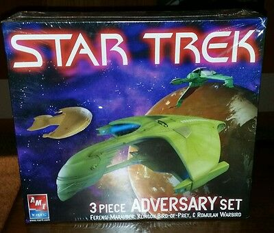 AMT ERTL RC2 Brands - Star Trek, 3 piece Adversary set - Ferengi-Romulus-Kl, MIB