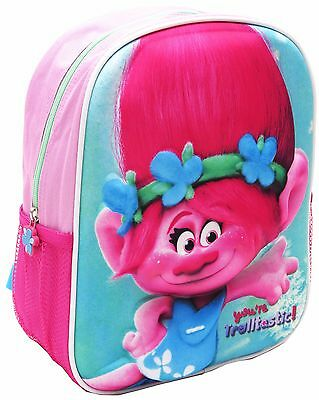 New 3D Small Backpack Trolls School Bag Kids Daycare Preschool Children Girls