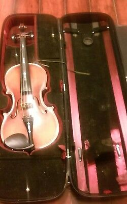 Fiddle/violin, Handcrafted By David Rhodes, Mother Of Pearl Inlayed W/case Tempo