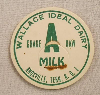 Vintage Milk Bottle Cap - Wallace Ideal Dairy - Knoxville, TN