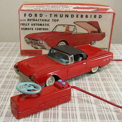 [Works] Yonezawa Cragstan 1960s Ford Thunderbird Remote Control Tin Toy Japan